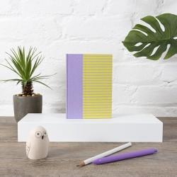Carnet de notes - A6 - Lignes - Couverture Demi Toile/Papier Création