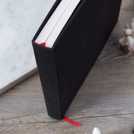 LDO002 - Livre d'or réalisé sur-mesure : Tranche fil couleur Rouge Duart.