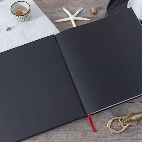 LDO002 - Livre d'or réalisé sur-mesure : Pages de garde de couleur unie noir