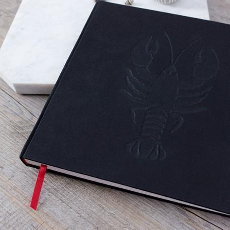 LDO002 - Livre d'or réalisé sur-mesure : Gaufrage du logo : un homard