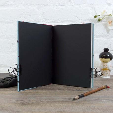 CDN5004 - Carnet de notes : Page de garde uni de couleur Noir