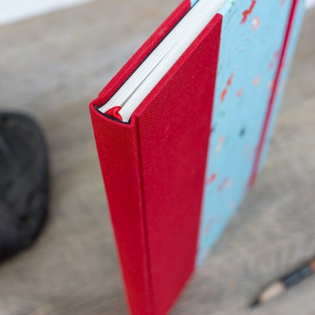 CDN5004 - Carnet de notes : Tranche fil de la même couleur de toile que le demi de couverture.