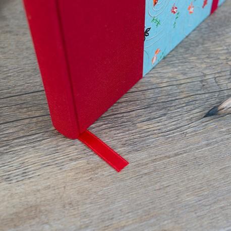 CDN5004 - Carnet de notes : Signet/Marque page de couleur rouge