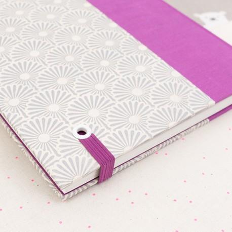Carnet de notes - Olympe - Œillets blanc