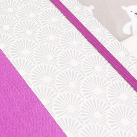 """Carnet de notes - Olympe - Papier de création """"Art Déco Argenté"""""""