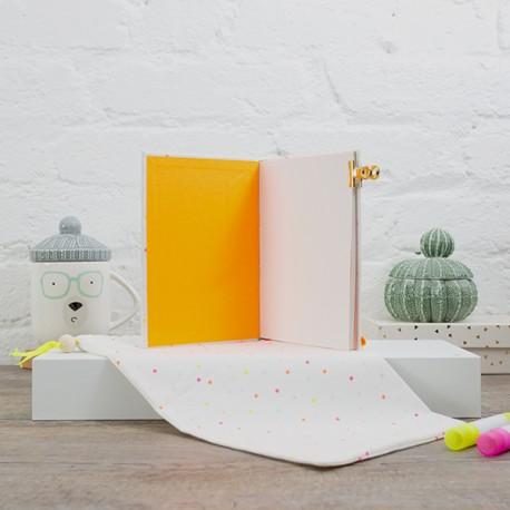 Pages de garde - Papier uni Orange Fluo